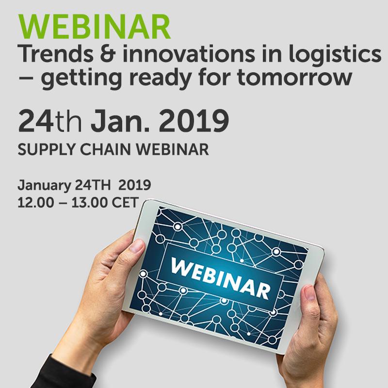 Webinar- Trends & innovations in logistics – getting ready